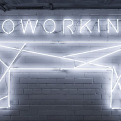 Co-working or Coworking Neon Sign photo