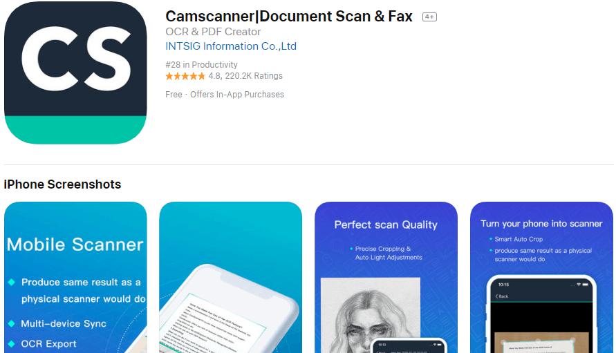 CamScanner Mobile Scanner App