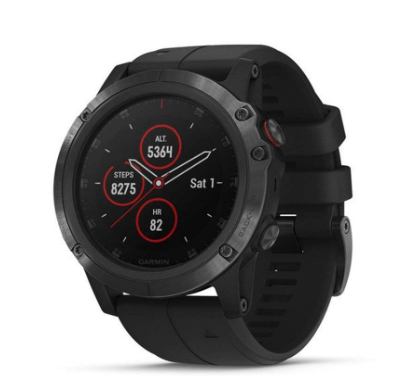 Garmin fenix 5X Multisport GPS Smartwatch, Features Color TOPO Maps and Pulse Ox, Heart Rate Monitoring, Music and Garmin Pay, Black