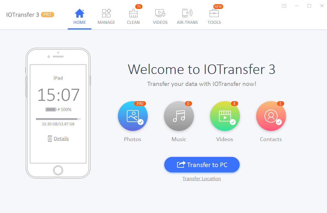 IOTransfer 3 Home