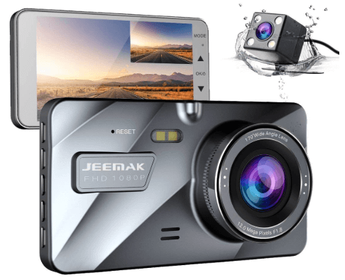 JEEMAK Dual Lens Dash Cam FHD 1080P Dashboard Camera