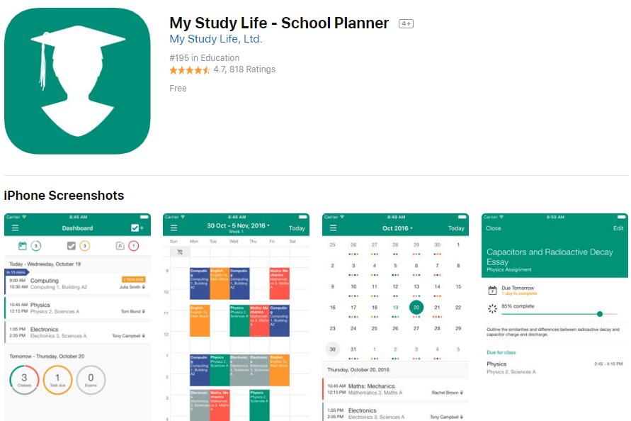My Study Life School Planner App