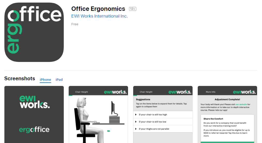 Office Ergonomics App