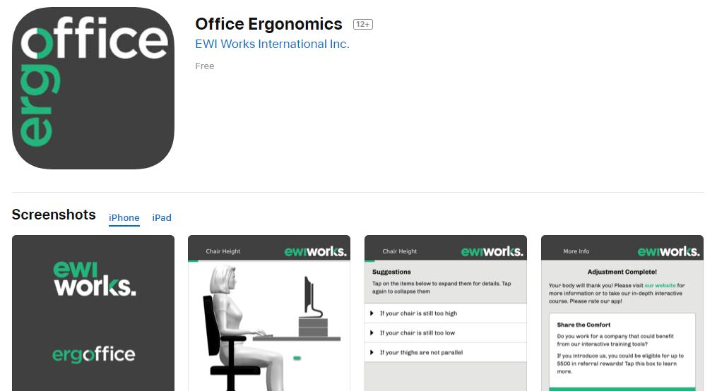 Office Ergonomics App