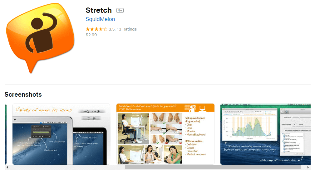 Stretch is an innovative break reminder app