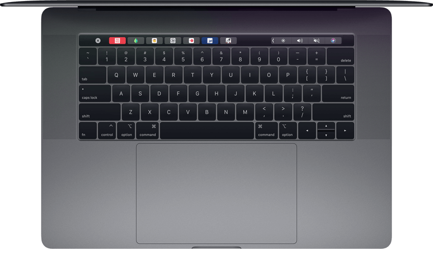 2018 MacBook Pro keyboard features a butterfly mechanism