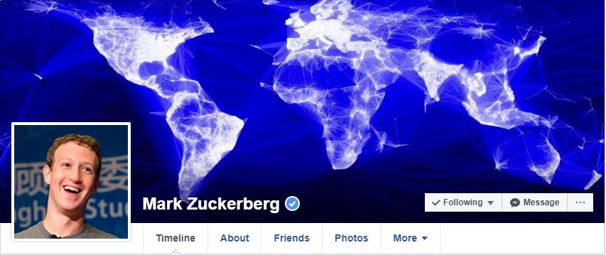Mark Zuckerberg Facebook Profile Page