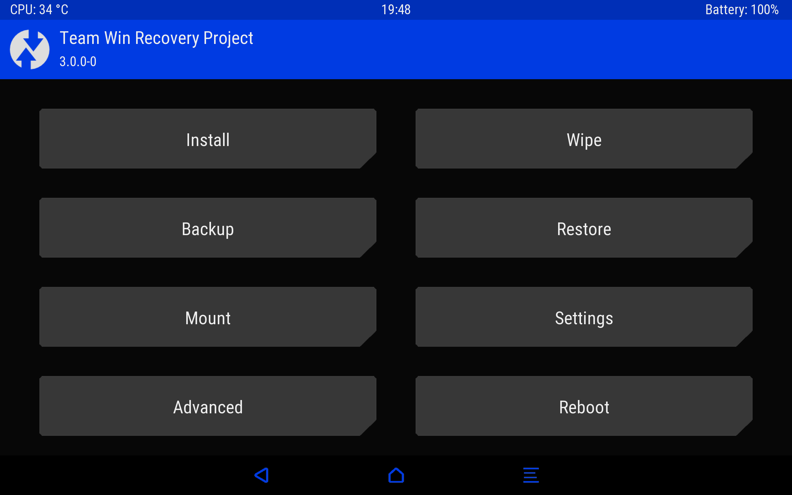 TWRP (Team Win Recovery Project) is an open-source software custom recovery image for Android-based devices.