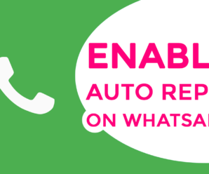Enable Auto Reply on WhatsApp