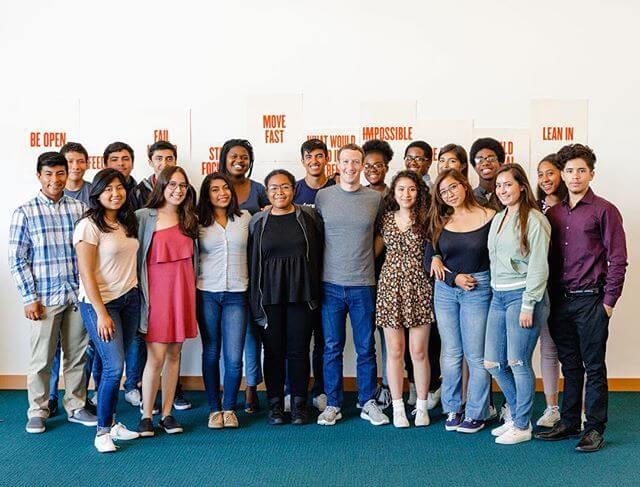 Mark Zuckerberg: Every summer we run Facebook Academy to connect high school juniors from our local community in Menlo Park and East Palo Alto with mentors so they can get experience working in the tech industry.