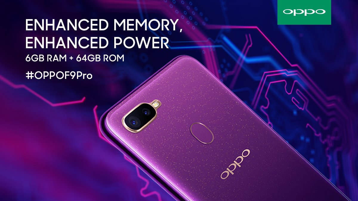 OPPO F9 Pro Smartphone. 6GB RAM, 64GB Storage