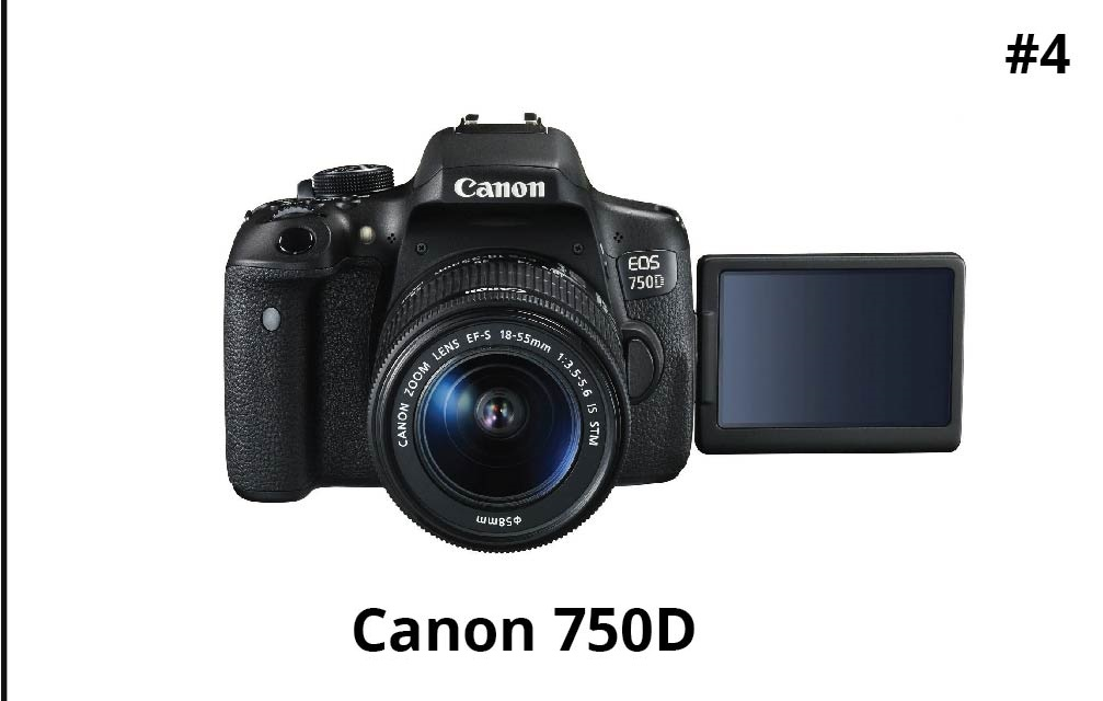 Canon EOS 750D 24.2MP Digital SLR Camera (Black)