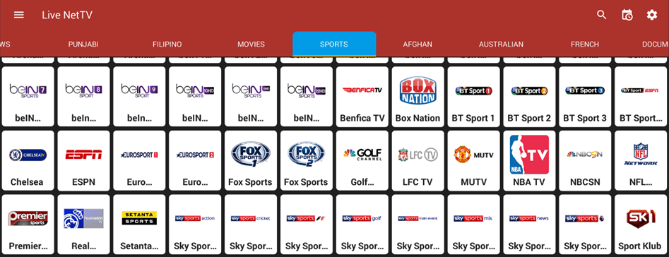 Live NetTV - Watch Live TV through an Android smartphone or tablet