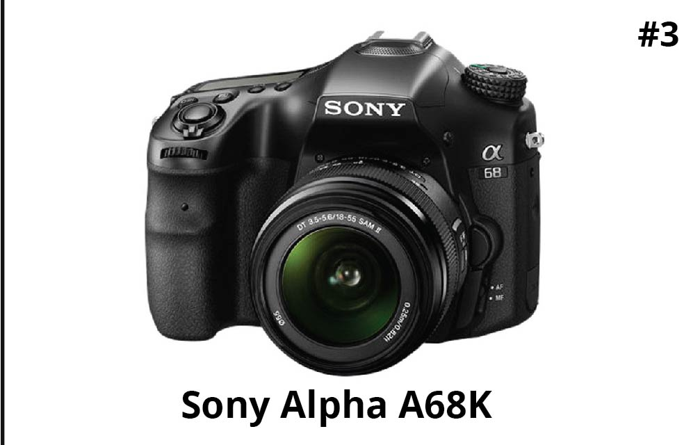 Sony Alpha A68K 24.2 MP Digital SLR Camera (Black) with 18-55 mm Lens