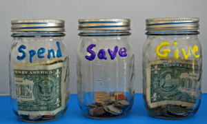 Savings, Give Away, and Spending Jars