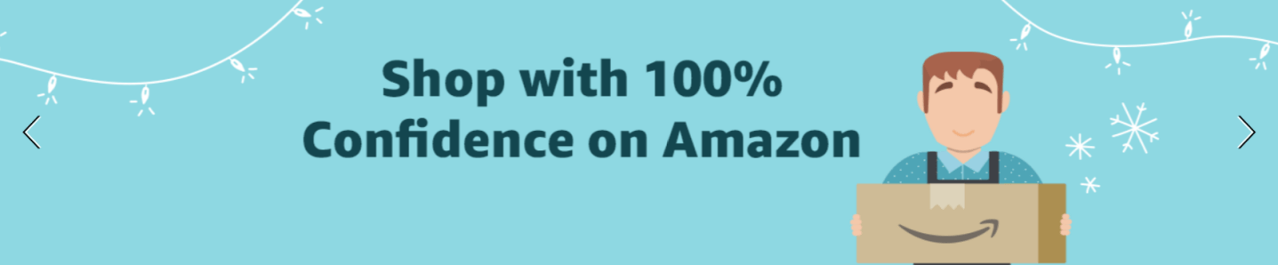 Shop with 100% Confidence on Amazon