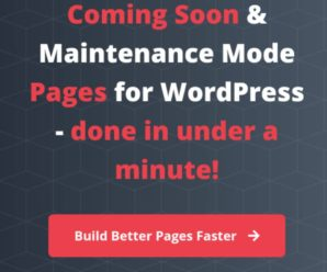 Coming Soon and Maintenance Mode Pages for WordPress