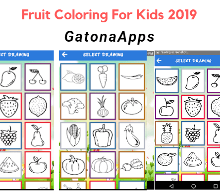 GatonaApps Fruit Vegetables Coloring Book For Kids 2019