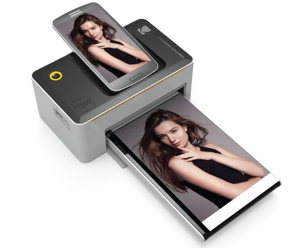 "Kodak Dock & Wi-Fi 4x6"" Photo Printer with Advanced Patent Dye Sublimation"