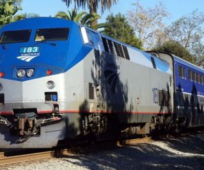 Amtrak trains