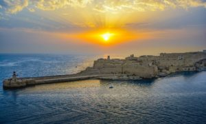 Malta Sunrise photo. The Information and Computer Technology in Malta