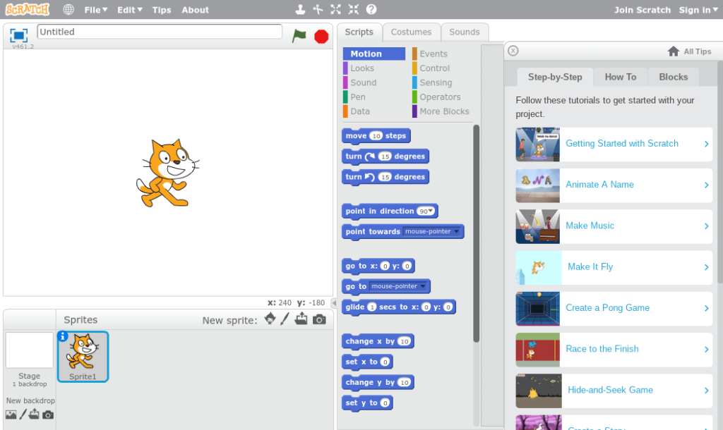 Scratch: Programming for All. With Scratch, you can program your own interactive stories, games, and animations and share your creations with others in the online community.