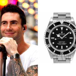 Adam Levine wearing Rolex Submariner Timeless Luxury Watch