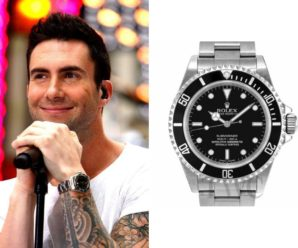 Adam Levine wearing Rolex Submariner Timeless Luxury Watch