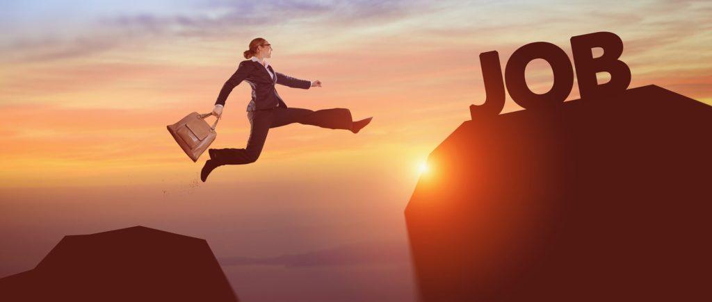 Success Business Woman - Career Change – Career Jump – Change Job - Job Search – Next Job – Dream Job.