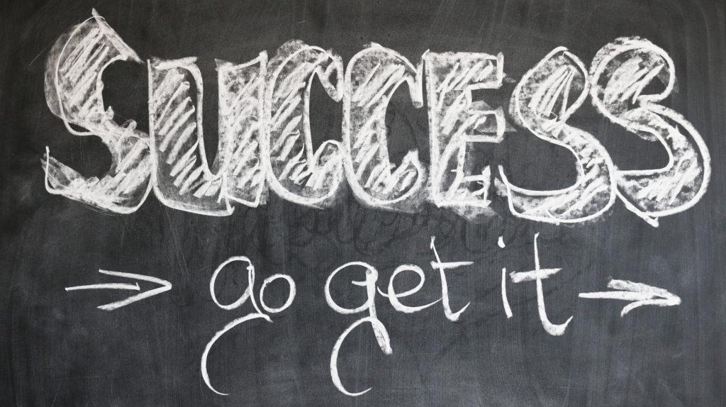 Success – Go get it! Board - Chalk - Blackboard - Success - Growth