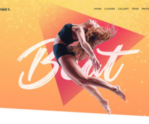 WordPress Portfolio Website Theme. Flydance Dance Classes Elementor WordPress Theme.