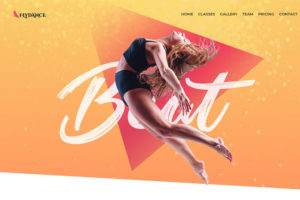 WordPress Portfolio Website Theme. Flydance Dance Classes Elementor WordPress Theme.