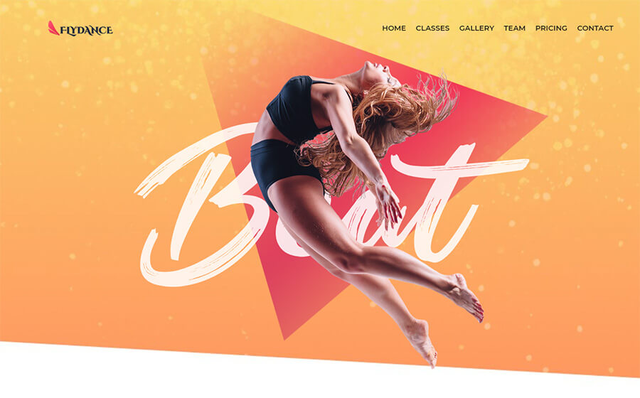Flydance - Dance Classes Elementor WordPress Theme