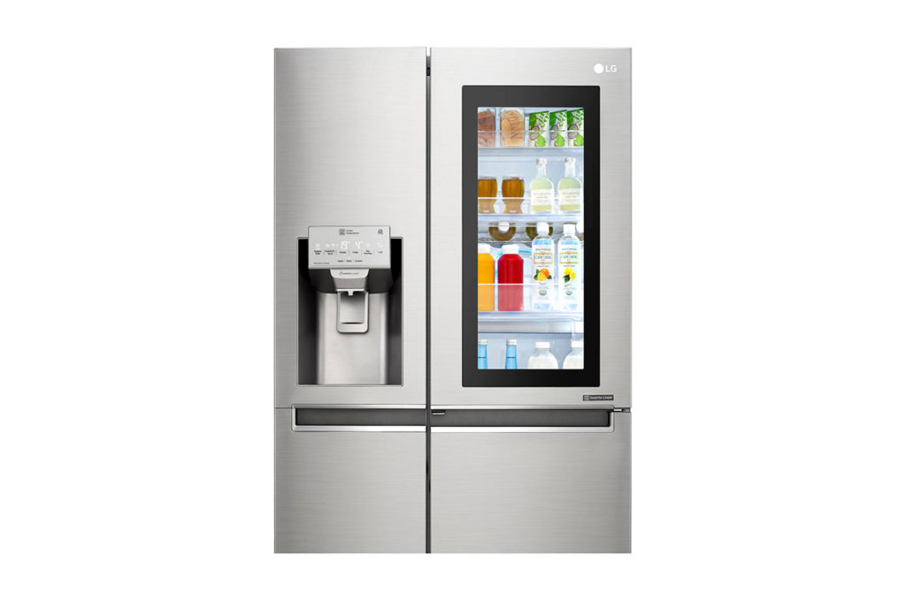 LG Glass Door Refrigerator.  Knock Twice, See Inside, 668 Litres InstaView Door-in-Door Refrigerator.