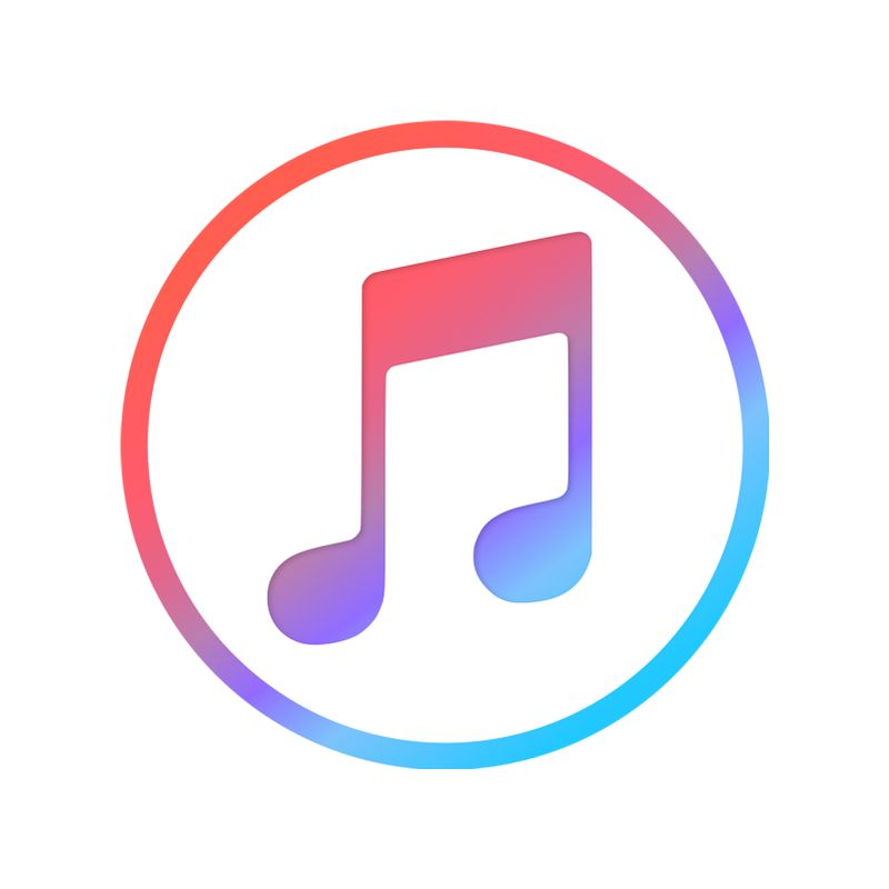 iTunes Logo. Logo Design Trends 2019. Single-Image Logo.