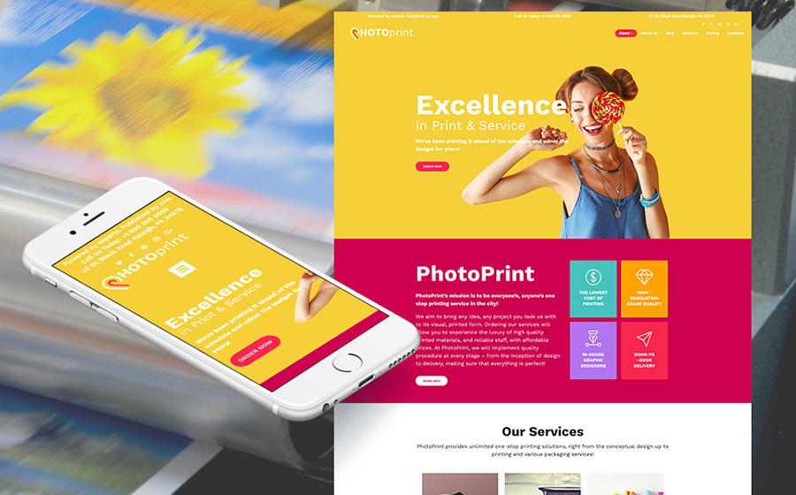 Print Shop Moto CMS 3 Template