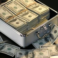 Grey Metal Case of Hundred Dollar Bills · Free Stock Photo