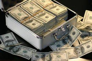 Grey Metal Case of Hundred Dollar Bills · Free Stock Photo