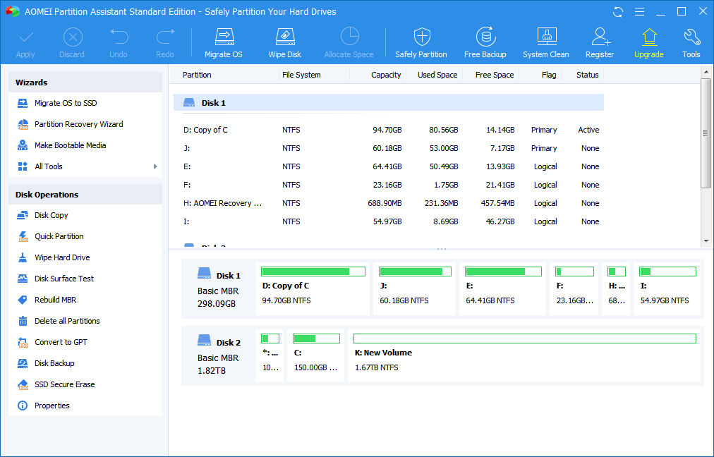 AOMEI Partition Assistant Standard 8.0 Free Partition Manager Software