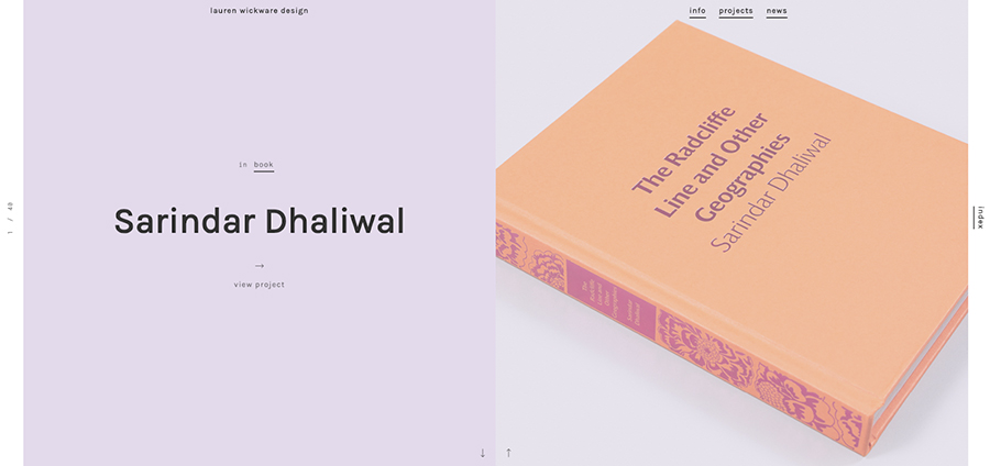 Sarindar Dhaliwal Book. Lauren Wickware Design.