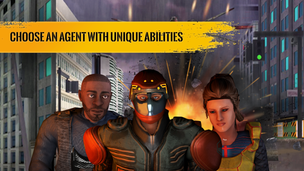 Agent War Origins Game Screenshot. Choose An Agent With Unique Abilities.