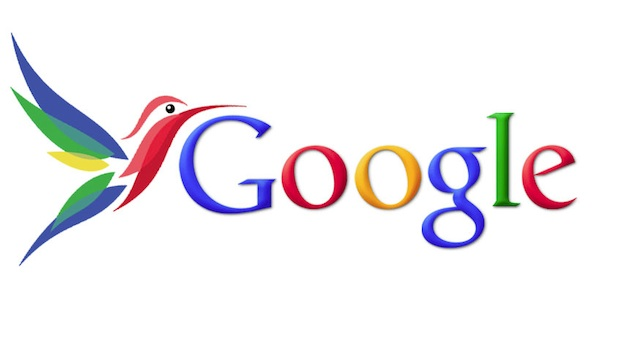 The official logo for Google Hummingbird, a massive update to Google search algorithm.