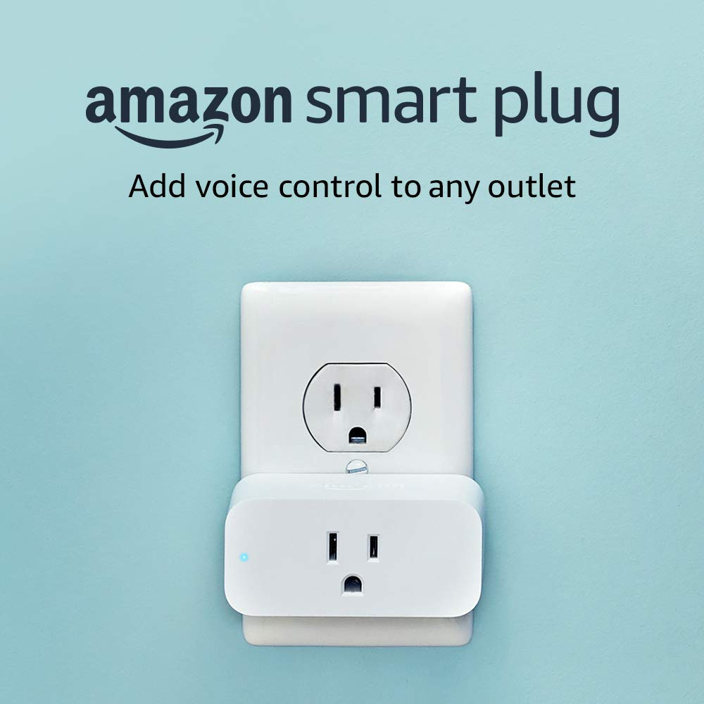 Amazon Smart Plug, works with Amazon Alexa. Add voice control to any outlet.