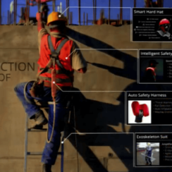 Construction Worker of 2025 - Wearable Technology in Construction - Smart Hard Hat, Intelligent Safety Vest, Auto Safety Harness, Exoskeleton Suit