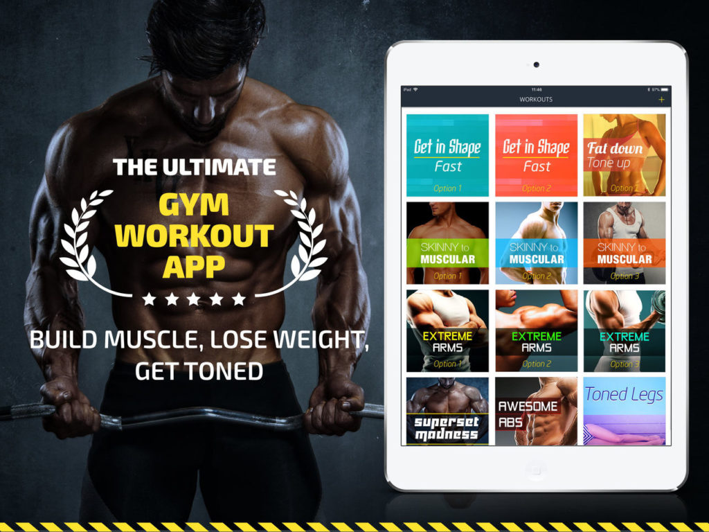 Fitness22Workout: Gym Tracker and Gym Workout Planner App - Weightlifting Plans App - Best Bodybuilding App - The Ultimate Gym Workout App - Build Muscle, Lose Weight, Get Toned.