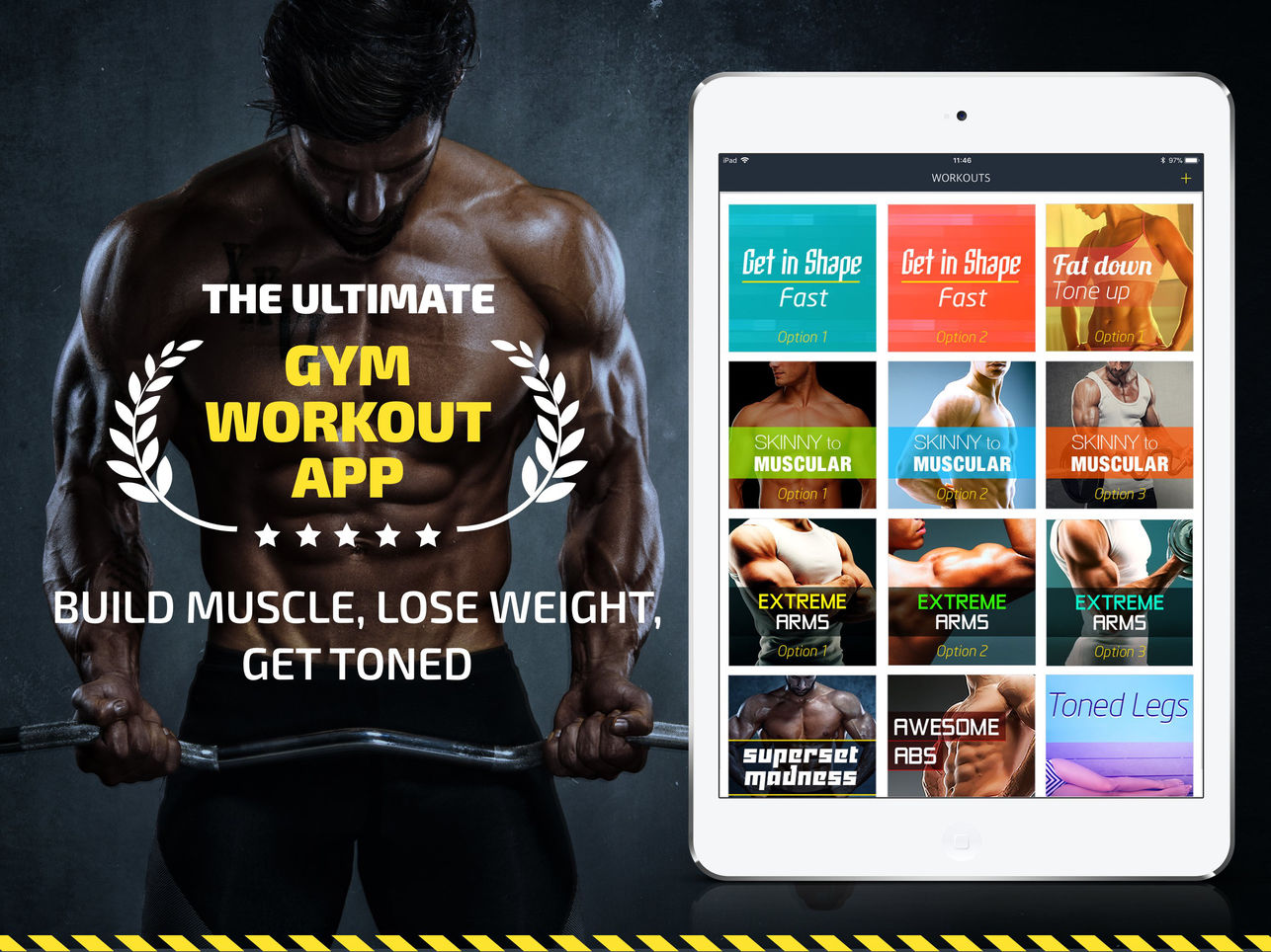 Fitness22 Workout: Gym Tracker and Gym Workout Planner App - Weightlifting Plans App - The Ultimate Gym Workout App - Build Muscle, Lose Weight, Get Toned.