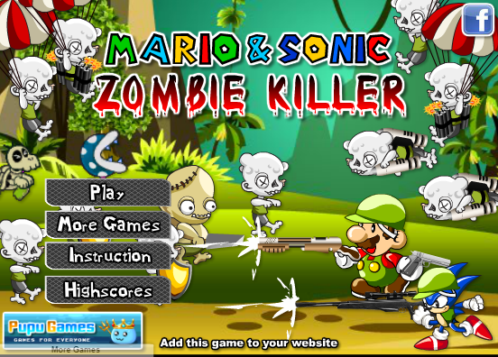 Mario and Sonic Zombie Killer Game - Play Online