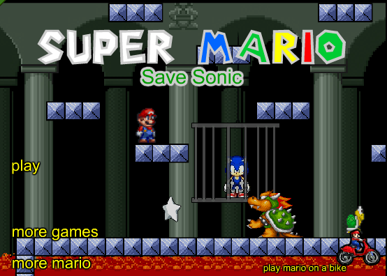 Super Mario Saves Sonic Game - Play Online