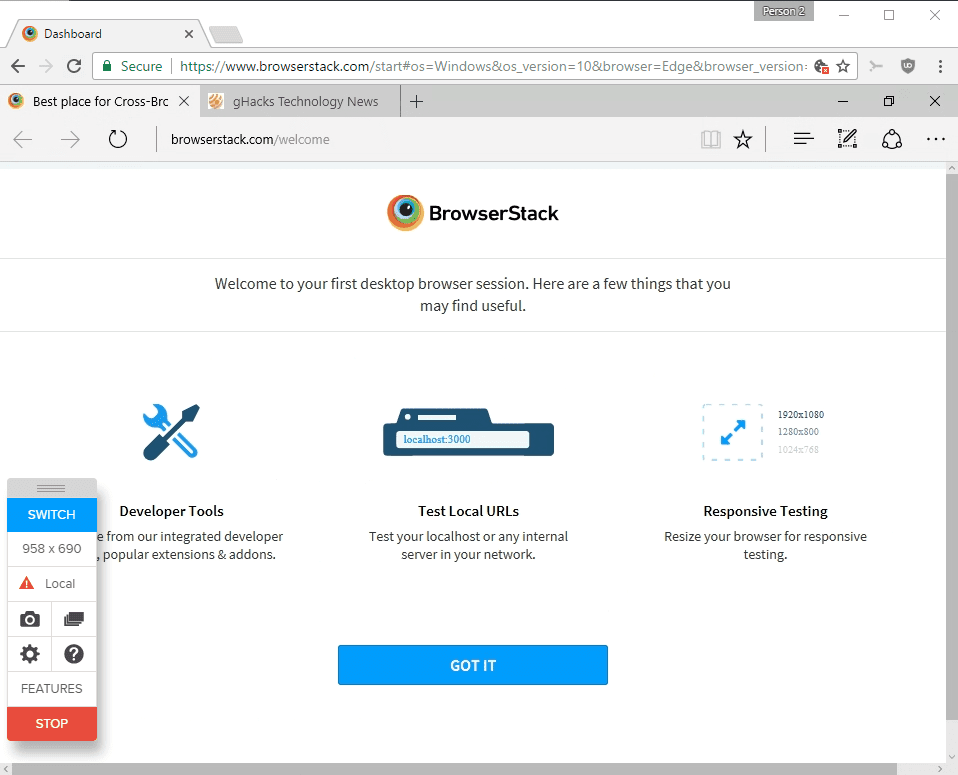 BrowserStack - Mobile App and Browser Testing Platform