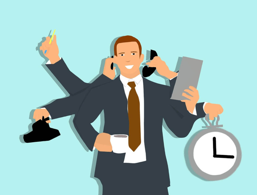 Multi-Tasking Efficiency Manager Time Business